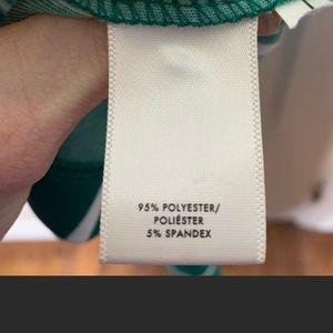 Ann Taylor Dresses - Ann Taylor green and white stripe wrap dress